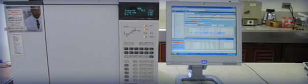 Citrolim employs the latest technology in analyzing its products to ensure they are within the exacting standards of the company and its customers. Shown here is a gas chromatograph for the analysis of oils.