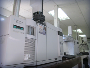 Citrolim's gas chromatograph mass spectrometer is used to the detection of agricultural residue.